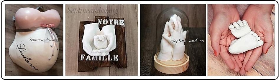 Septine And Co Nice Empreintes 3d Pour Futures Mamans Bébé Et