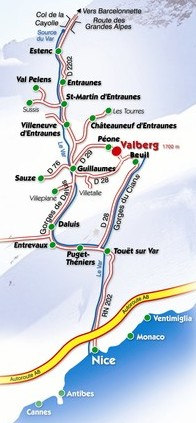 itineraire-plan-acces-valberg-route