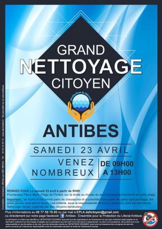 nettoyage-citoyen-antibes-plage-ramassage-dechets