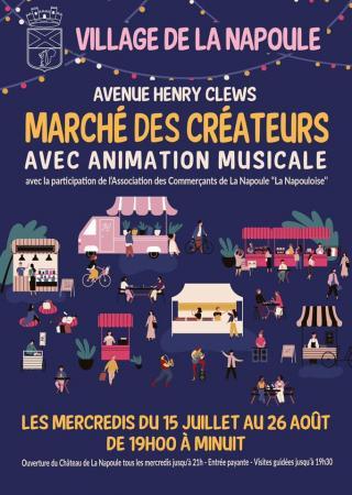 marche-createurs-animations-musique-mandelieu-napoule