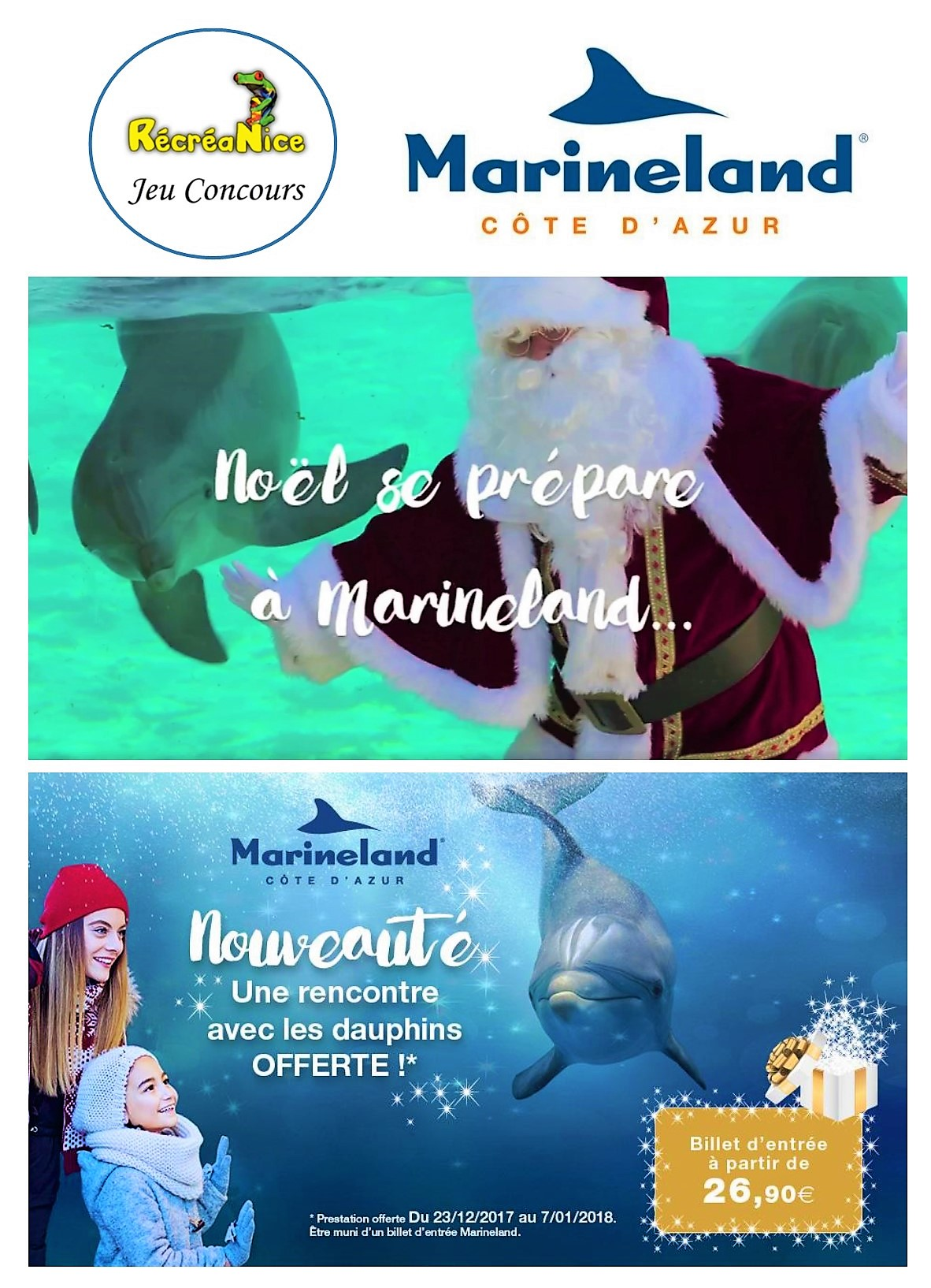 tarif rencontre avec les dauphins marineland